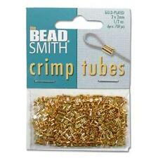 400 2x2 Gold-Plated Crimp Tubes - Beadsmith's Best!