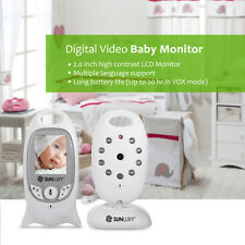 SUNLUXY Funk Wireless Babyphone mit Kamera IR Nachtsicht Monitor Babyviewer Neu