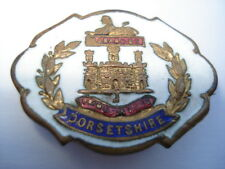 CWW1 VINTAGE DORSETSHIRE REGIMENT WHITE FACED ENAMEL SWEETHEARTS PIN BROOCH