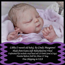"""Libby(3 mo baby),by Cindy Musgrove-1st Quality 23"""" reborn Doll Kit-free ship USA"""