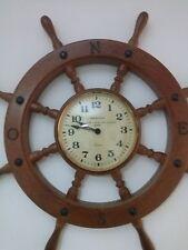 OROLOGIO TIMONE LEGNO MASSELLO OTTONE diametro 60cm