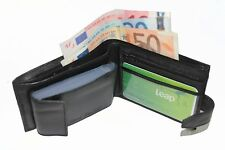 MENS SHEEP LEATHER WALLETGOOD/CREDITCARD/PHOTO HOLDER/COIN POUCH WITH ZIP SW-107