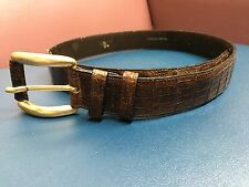 Genuine Real Crocodile Leather Men's Belt Size is 26 -29, overall length is 34in