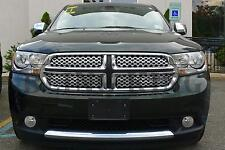 2011-2013 Dodge Durango chrome mesh grille grill insert trim 4pc