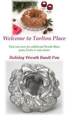 "Nordicware 12"" HOLIDAY WREATH 10 Cup BUNDT CAKE Pan HEAVY Cast Aluminum *NEW"