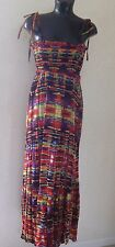 SOUTH Cotton Boho Printed Maxi Dress Size 10 NEW