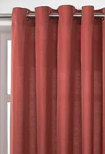 DISCOUNTED PLAIN DYE VOILE LINED CURTAIN - RING TOP / EYELET - CHOICE OF COLOURS