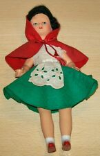 FURGA Italy Plastic DOLL - RED RIDING HOOD? with opening eyes
