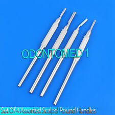 Set Of 4 Assorted Round Surgical Scalpel Blade Handles  Instruments