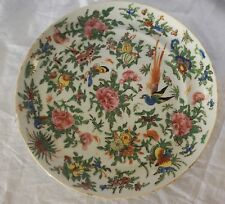 Small Porcelain Hand-painted Chinese Plate with Birds on it Antique China