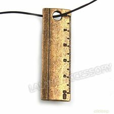 80x 141304 Wholesale Antique Bronze Charms Tool Ruler Pendants Fit Necklaces