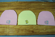 new 3 new born - 3 months baby beanies Pink Yellow baby shower gift game decorat