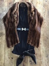 Mink Fur Cape Bolero Stole Shrug Coat