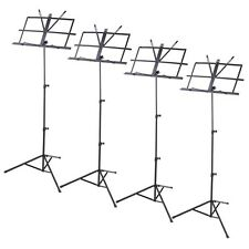 4 Pack Folding Sheet Music Stand Score Note Holder Mount Tripod Carrying Gi