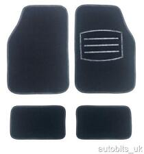 BLACK CARPET NON-SLIP GRIP CAR MAT MATS SET FOR FIAT BRAVA BRAVO PUNTO STILO