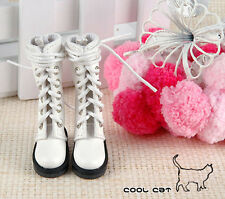 ☆╮Cool Cat╭☆【14-04】Blythe Pullip Doll Boots # White