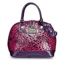 Fashion Lounge fly Hello Kitty Pink Leopard Patent Embossed Dome Bag Women Purse