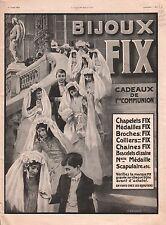 Pub Bijoux Fix Chapelet Médaille Broches/Hotel Lotti Paris 1911 ILLUSTRATION