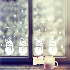 Cute Funny Little 4 Snowman Snowflake Christmas Stickers Clothing Window Decals