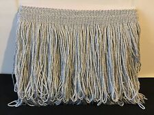 "BN Trim 6"" inch Drop Silver Metalic Tassel Dress Fringe Loop Fringing 1 Meter"