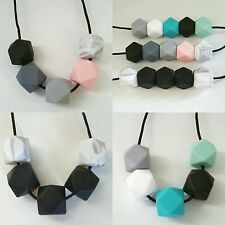 Silicone Teething necklace You choose 5 coloured beads sensory tool jewellery