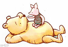 """3"""" DISNEY CLASSIC POOH & PIGLET NURSERY CHARACTER  PREPASTED WALL BORDER CUT OUT"""