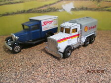 MATCHBOX PETERBILT SHELL TANKER & MODEL A FORD KELLOGGS   PLAYED WITH  - NO BOX