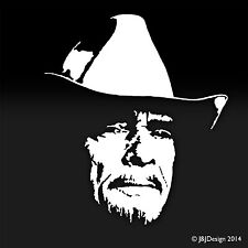 Merle Haggard White Decal Window Sticker Country Music TV Movies & Music