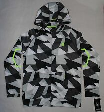 Spyder Big Boys Size L 14-16 Faceted Fracture Full-Zip Hooded Sweatshirt Gray