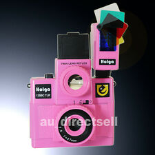 HOLGA 135BC TLR / 135BCTLR 160 Flash Pink Plastic Lens Film Camera Lomo