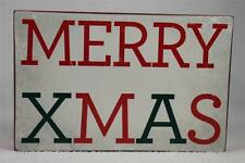 Wooden Word Block 'Merry Xmas' by About Face Designs Hang or Set NEW!