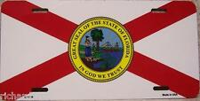 Aluminum License Plate US State Florida flag NEW flat edge