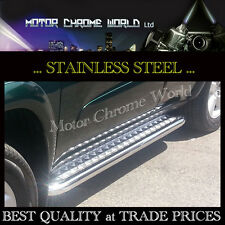 VOLKSWAGEN CADDY SWB SIDE BARS, STEPS, RUNNING BOARDS CHROME S.STEEL 2004+Up NEW