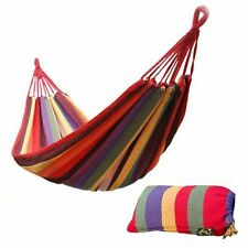 Portable Cotton Rope Outdoor Bed Swing Fabric Camping Hanging Hammock Canvas US