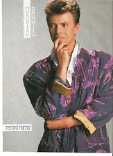 DAVID BOWIE purple robe magazine PHOTO/ Poster/clipping 11x8 inches
