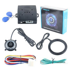 Universal RFID smart car alarm system push engine start button auto-rearming