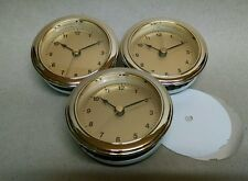 """THREE (3) CLOCK FIT UP insert brass face / CUSTOMIZE YOUR OWN FACE, 3"""" hole, NEW"""