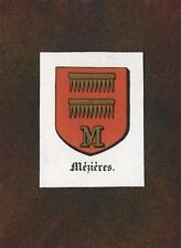 ANTIQUE MEZIERES INITIAL M FRANCE CREST PRINT ACEO NEW BLACK PAPER COAT OF ARMS