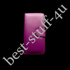 Flip Leather Wallet Case Cover Fits Samsung Mobile Free Screen Protector g46