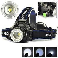 2000LM A zoom regolabile CREE XM-L T6 LED 18650 torcia frontale torcia da fronte