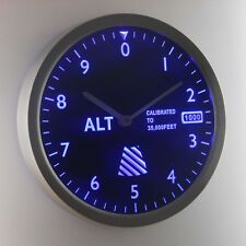 nc0974-b Altimeter Pilot Air Plane Altitude Measurement Neon Sign LED Wall Clock