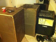leslie model 255 organ speaker and amps,15 inch woofer and rotary horn untested