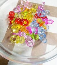 Pacifier Charms Baby Charms Baby Shower Favors Acrylic Assorted  3D Charms 20pc
