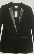 Fab Helmut Lang  Wool/Lamb Leather blazer SZ4 NWT  670.00 Neiman Marcu STEAL IT!