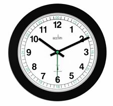 Acctim Milan Black Office 24 hour Radio Controlled Wall Clock MSF signal