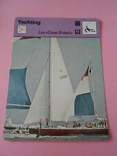 Yachting Les Great Britain  Fiche Card 1977