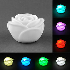 Decor Romantic LED Lamp Candle Party holidays House Light Night Studio Rose