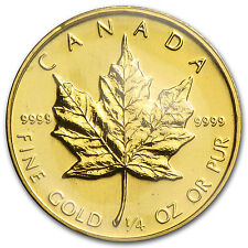 1984 1/4 oz Gold Canadian Maple Leaf Coin - Brilliant Uncirculated - SKU #82821