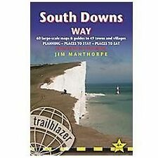 South Downs Way, 4th: British Walking Guide with 60 large-scale walking maps, pl