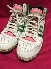 Rare Adidas Watermelon Top Ten Hi Men's Size 14 Athletic Sneakers Pink & Green